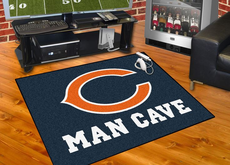 Customize any room in your house or office and show your team pride with this Chicago Bears Man Cave All-Star by Fanmats. Put this mat in any room in your home to let your loved ones and guest know yo