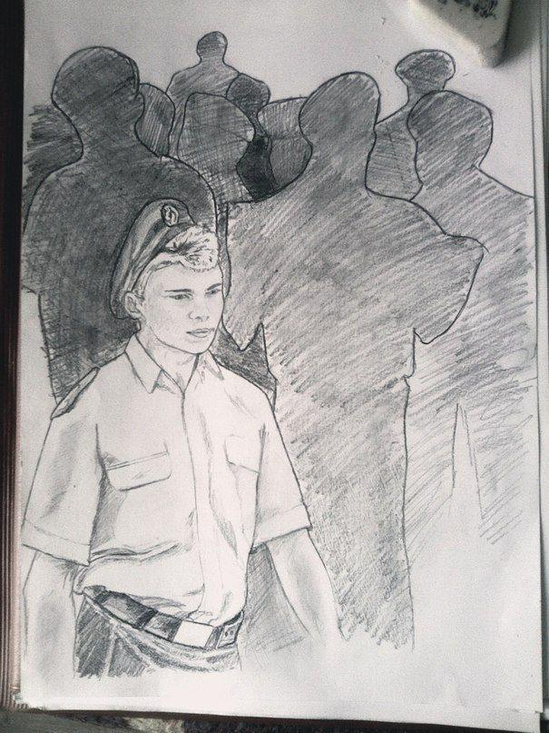Рисунки карандашом люди, рисунки на заказ,  рисунок с натуры, парень, лицо, моряк, графика, черно белые