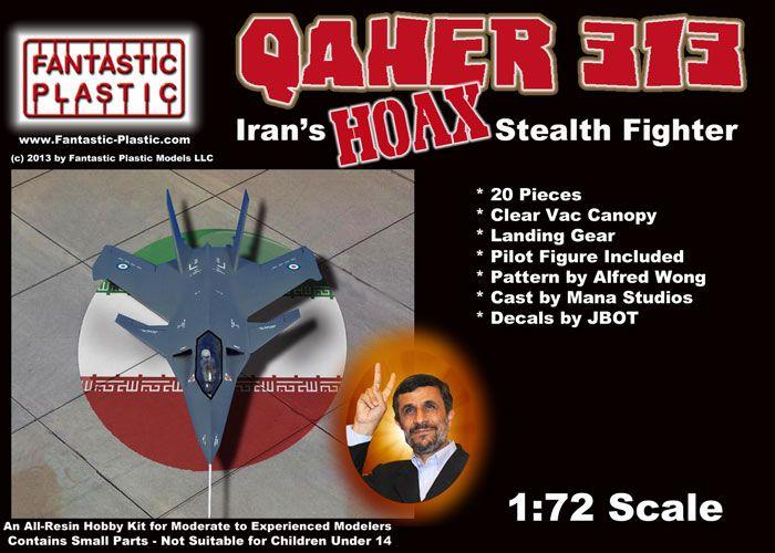 Qaher 313 Iranian Hoax Stealth Fighter - Fantastic Plastic Box Art
