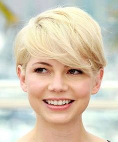 fotos de cabelo curto com franja para rosto redondo