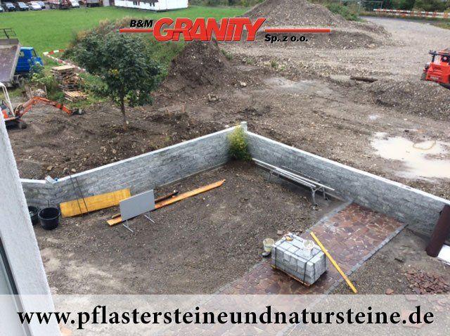 B&M GRANITY - Eine Natursteinmauer kann so individuell sein…Die Mauer aus Naturstein kann traditionell, modern, rustikal, antik usw. sein. Es gibt so viele Varianten…Diesmal… eine Mauer aus Granit (gesägt-gespalten, graue Granit-Mauersteine)  http://www.pflastersteineundnatursteine.de/fotogalerie/mauersteine/