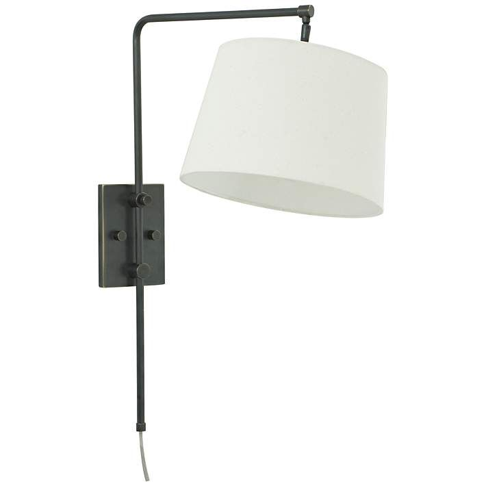 House of Troy Crown Point Oil Rubbed Bronze Swing Arm Lamp - #6R188 | Lamps Plus