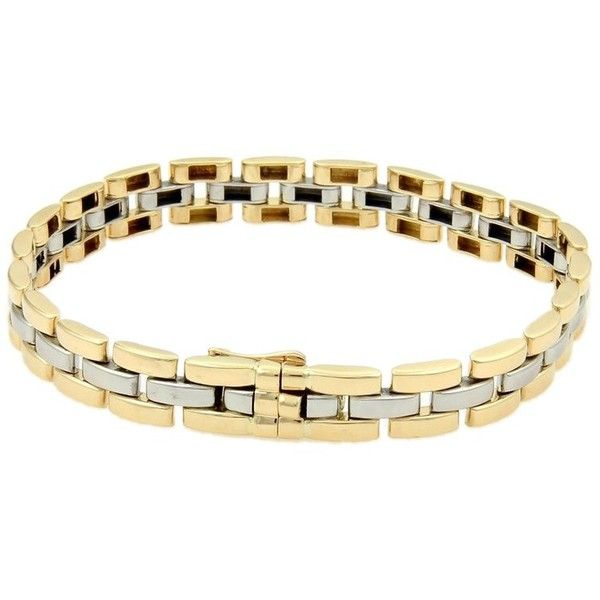Cartier Panthere 18K Yellow Gold & Stainless Steel Bracelet