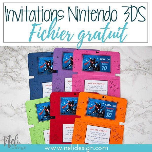 invitations d anniversaire nintendo 3ds