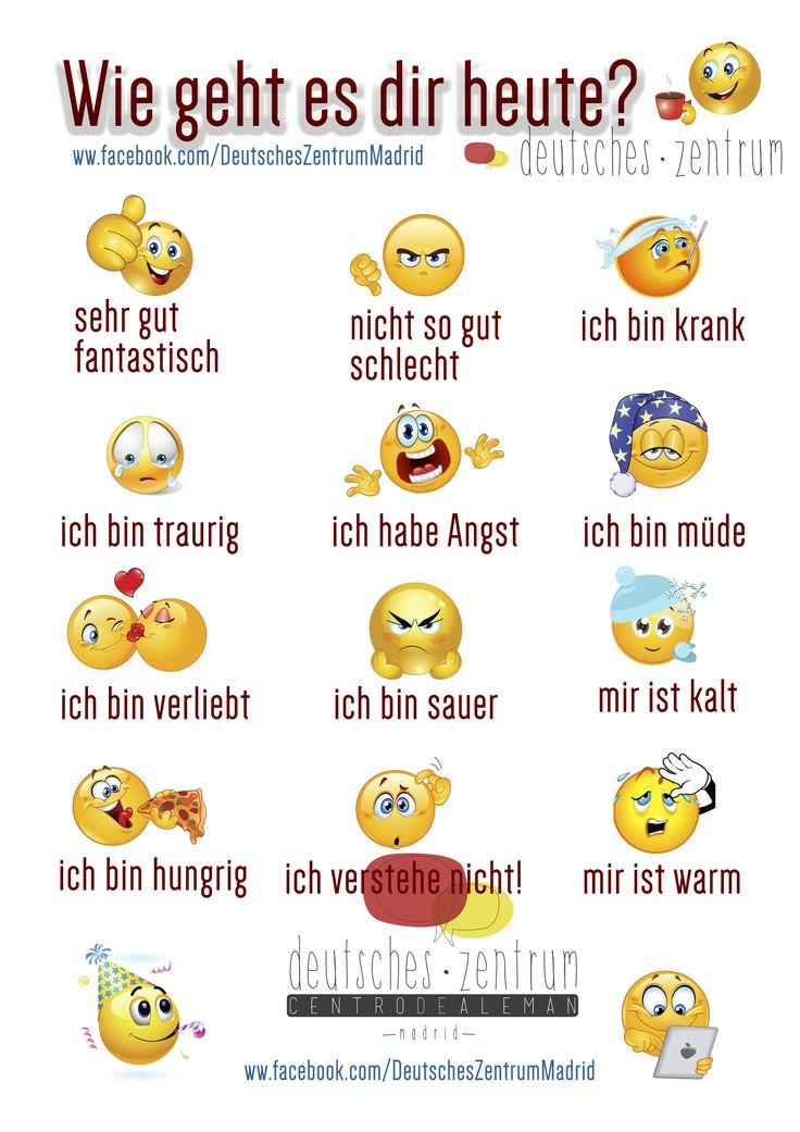 Gefühle Deutsch Wortschatz Grammatik