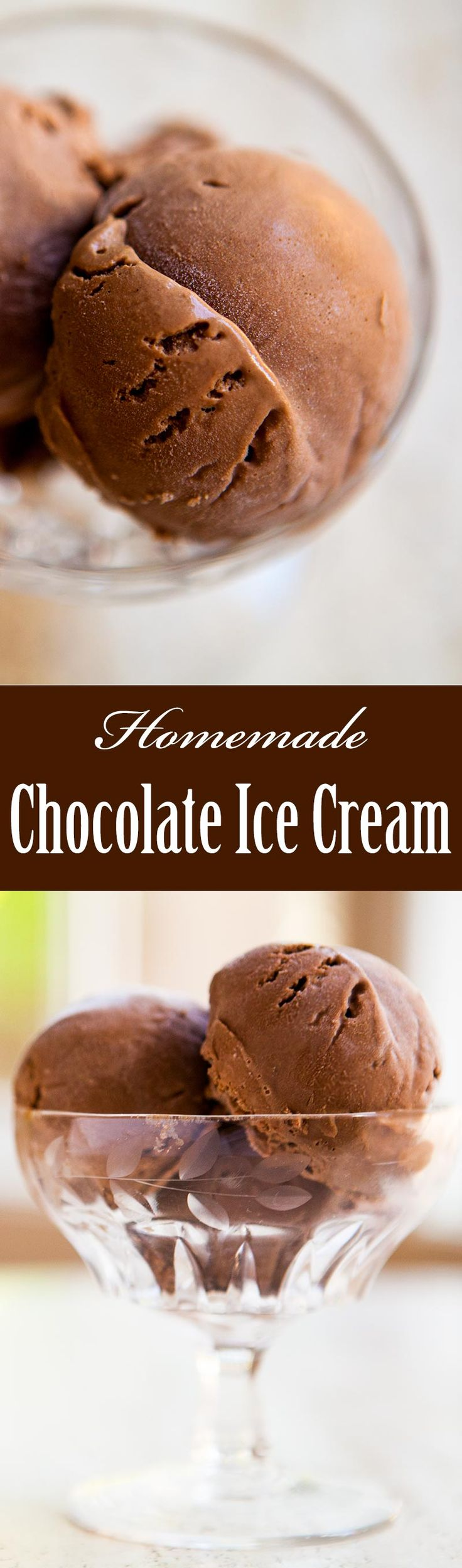 Learn how to make your own homemade rich and creamy chocolate ice cream! On SimplyRecipes.com