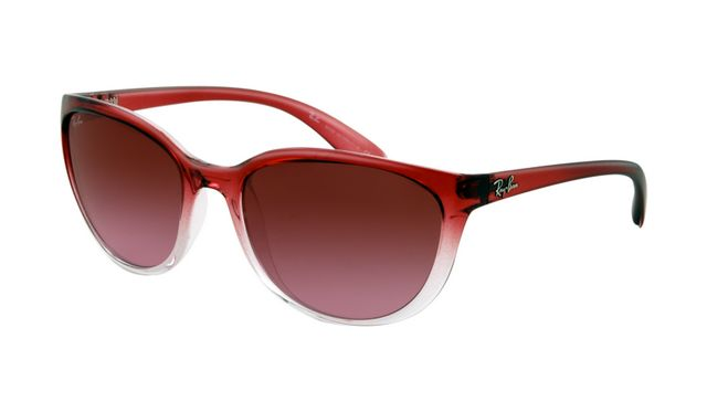 Ray Ban RB4167 Sunglasses Red Gradient on Transparent Frame Brown Gradient Lens - Up to 86% off Ray ban sunglasses for sale online, Global express delivery and FREE returns on all orders. #rayban #sunglasses #cheapraybansunglasses #mensunglasses #womensunglasses #fakeraybansunglasses