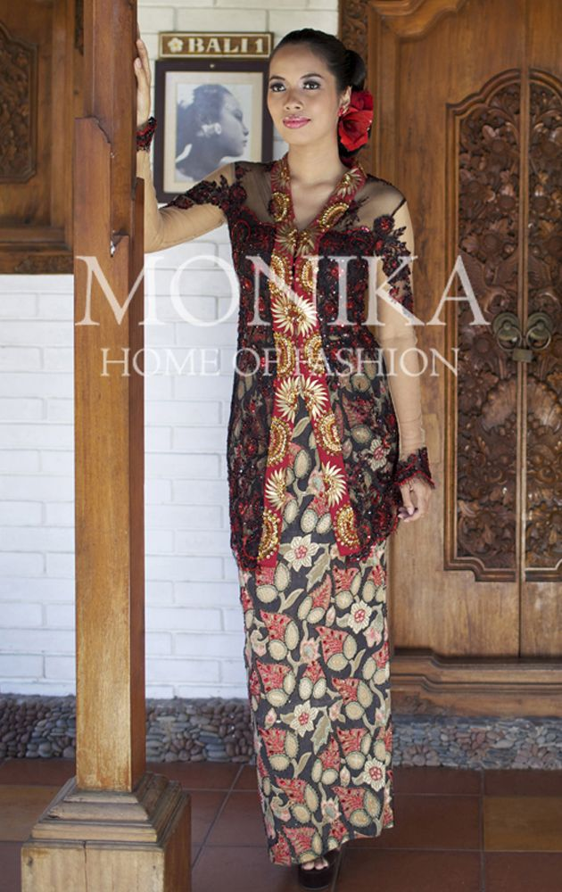 Black & Red Kebaya