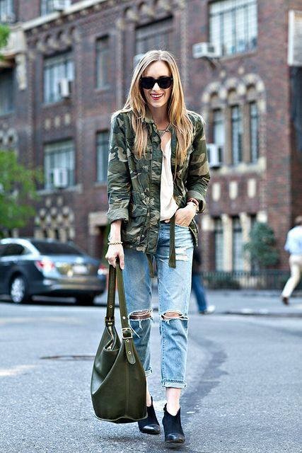 How to Wear Camo Prints: 40 Outfit Ideas To Try Now | StyleCaster #camouflage #army #military-style #fashion