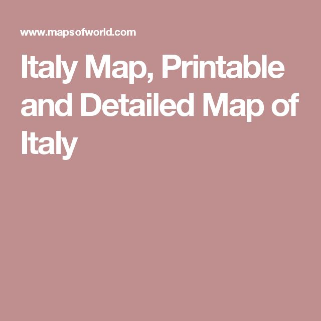 Italy Map, Printable and Detailed Map of Italy
