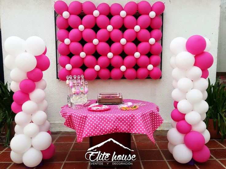 Decoración Rosa con Blanco. Elite house, eventos y decoraciones.  Barranquilla, Atlántico  Fb: www.facebook.com/elitehousebq  Instagram: elitehousebq  Web: www.elitehousebq.blogspot.com.co