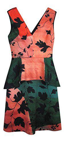 CLOVER CANYON Clover Canyon Womens Scuba Peplum Wear To Work Dress. #clovercanyon #cloth #