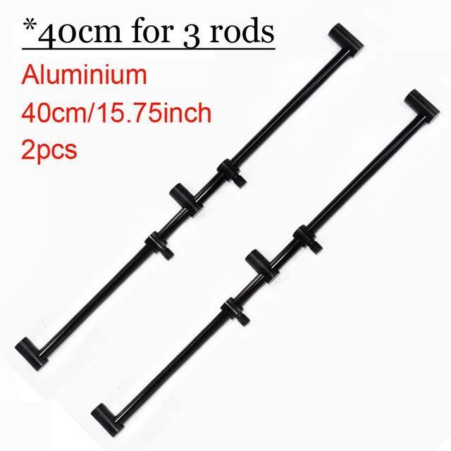 2pcs Fishing Buzz Bars Fishing Rod Pod Holder Black Buzzer Bars for 2 Rods