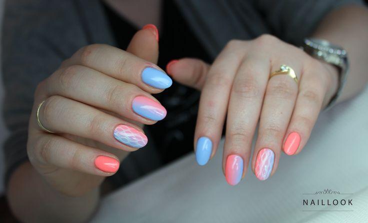 #ombre #nail #nails #paznokcie #mani #manicure #manicurehybrydowy #hybryda #pastel #spring www.naillook.pl