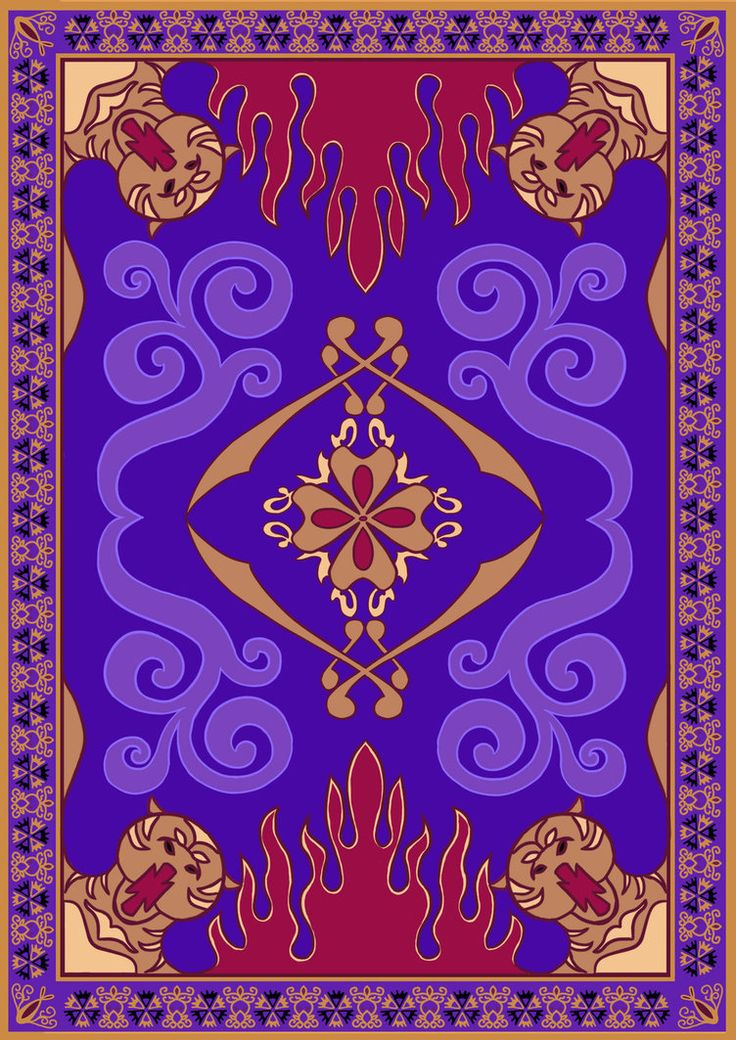 So basically, I was getting super frustrated because I could not find ONE flat/rectangular image of the Magic Carpet from Aladdin. I needed an image like this one so it can be used for my birthday ...