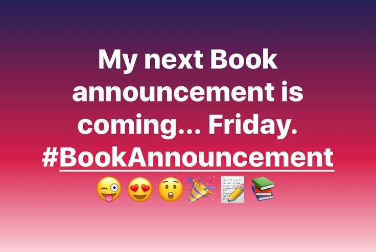 #BookAnnoucement is coming Friday...