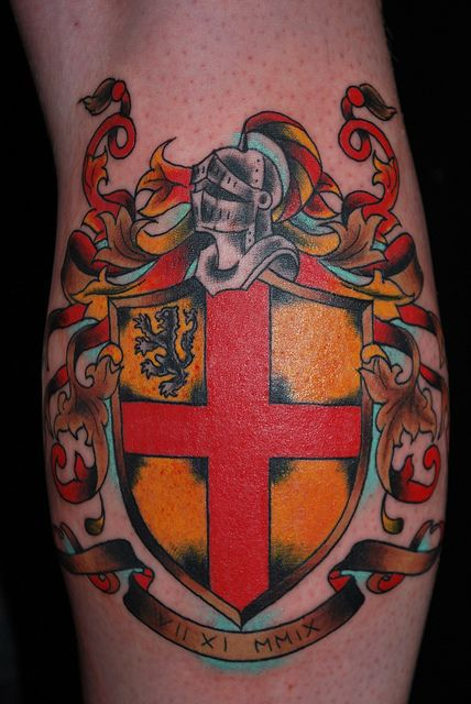 17 best images about crest sheild tattoos on pinterest for Family motto tattoos