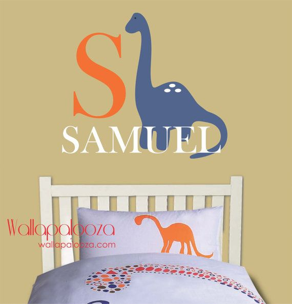 Wall Decal Boys Name Wall Decal Childrens by WallapaloozaDecals