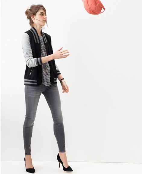 Madewell Skinny Skinny Zip Jeans.