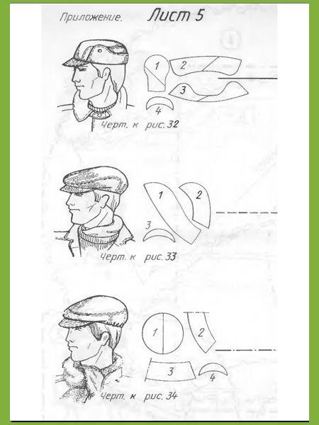 modelli cappelli con visiera in RUSSO !