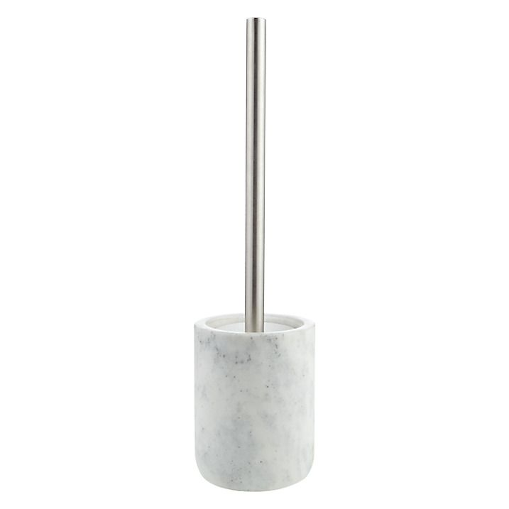 Buy John Lewis White Marble Toilet Brush and Holder Online at johnlewis.com