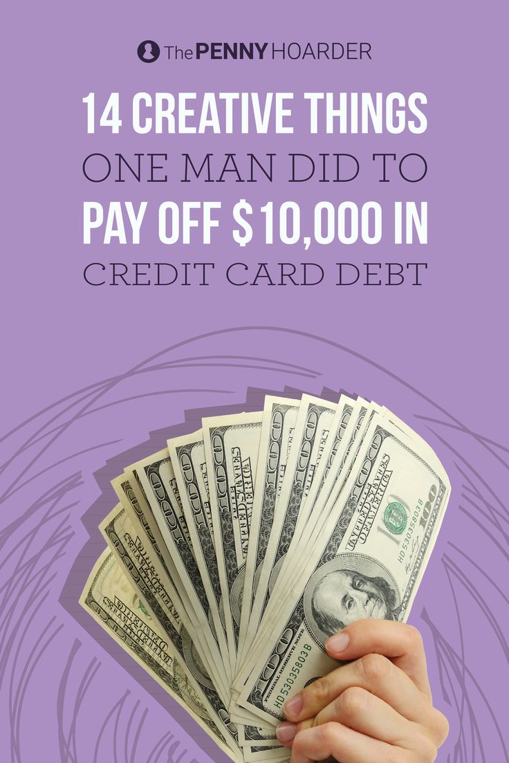 When I started this blog a few years ago, I was DROWNING in credit card debt — over $10,000, in fact.  It got so bad that there were times I had to roll pennies just to buy groceries! @thepennyhoarder