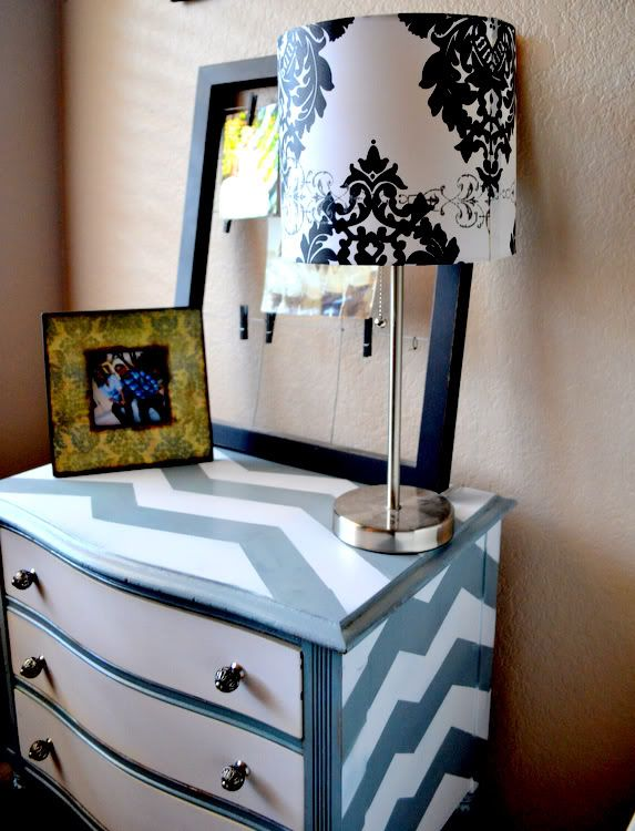 How to Paint Chevron Stripes • Lots of Tips and Tutorials! Including this chevron dresser from 'my shine project'.