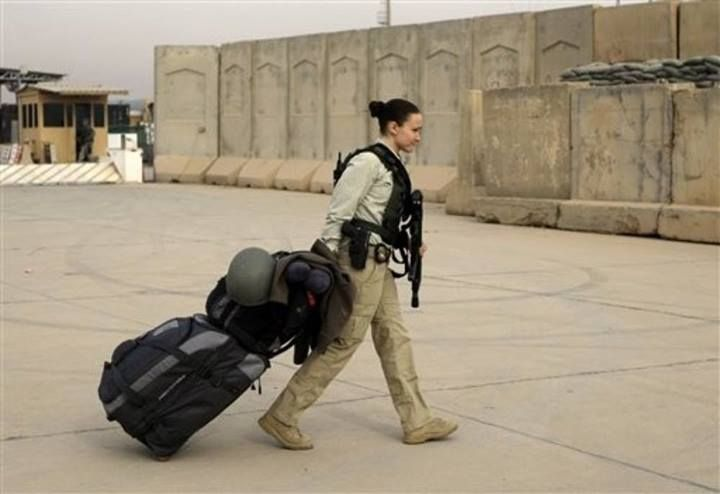 A U S Female Private Security Contractor In Iraq
