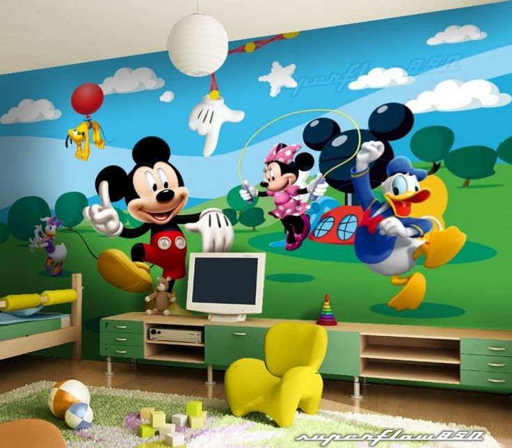 Best 25 disney mural ideas on pinterest disney wall - Mickey mouse clubhouse bedroom decor ...