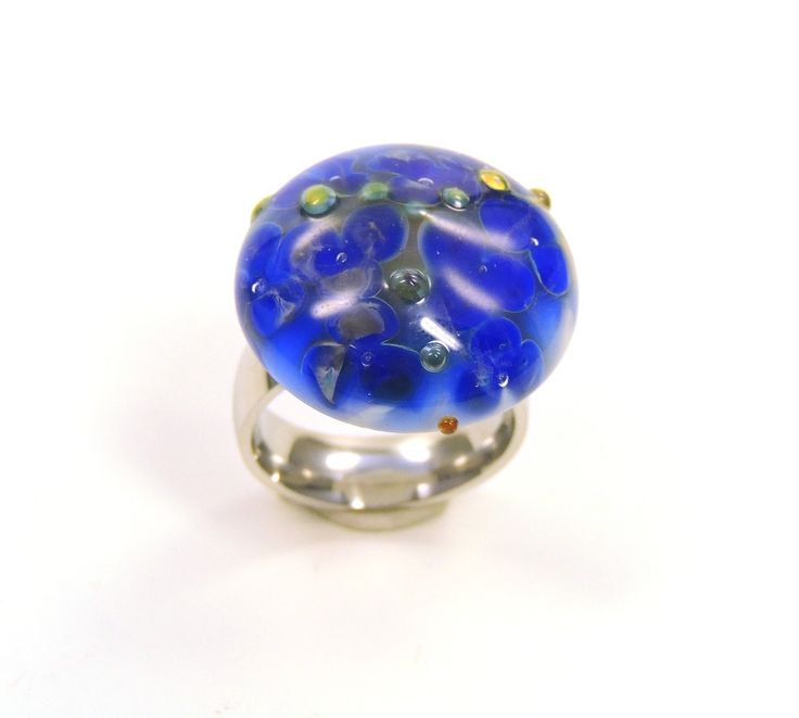 Lampwork Glass Interchangeable Ring Top - pinned by pin4etsy.com