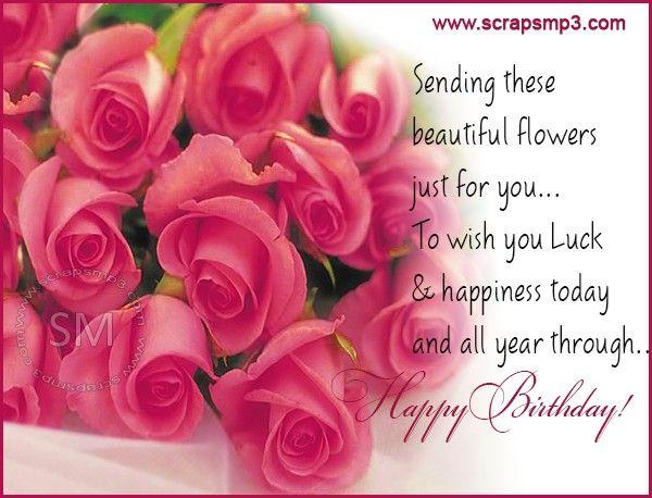beautiful roses birthday wishes  happy birthday flower