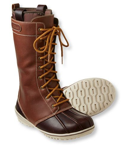 These waterproof all-weather boots, inspired by our iconic rubber mocs, have been updated with a feminine fit and style that will cheer up the gloomiest of days. Leather upper with L.L.Bean's special TEK2.5® waterproof membrane repels water, slush and salt stains. Contoured EVA insole adapts to your foot shape for remarkable comfort and support. Top collar is lined with soft foam for exceptional cushioning all around, and lower boot is triple-needle-stitched for long-lasting ...