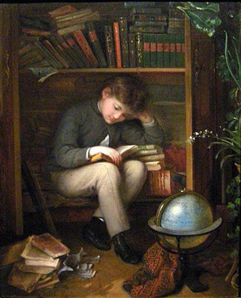 Eduard Swoboda (1814 – 1902, Austrian)Art Gallery, Homeschoolcharlott Mason, Homeschool Articles, Eduard Swoboda, The Artists, Boys Reading, Book, A Small, Swoboda 18141902