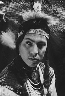 Joe Medicine Crow (b. 1913) as a young man; WW2 veteran and the only living Crow war chief according to the four traditional tasks to achieve this rank. Grandson of Medicine Crow, graduate of Linfield College with master's in anthropology from USC. Historian and author.  (See Ken Burns' documentary The War, episode 5 FUBAR)