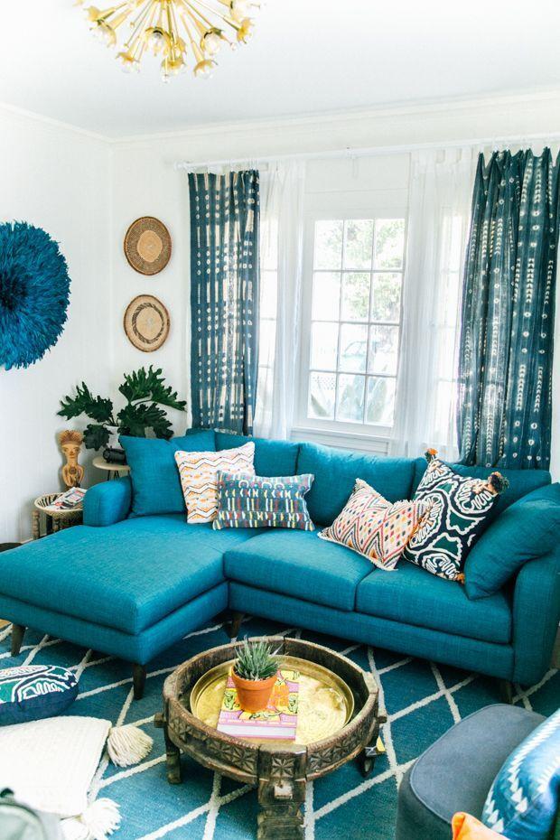 35 Lovely Teal Decor For Living Room Teal Sofa Living Room Teal