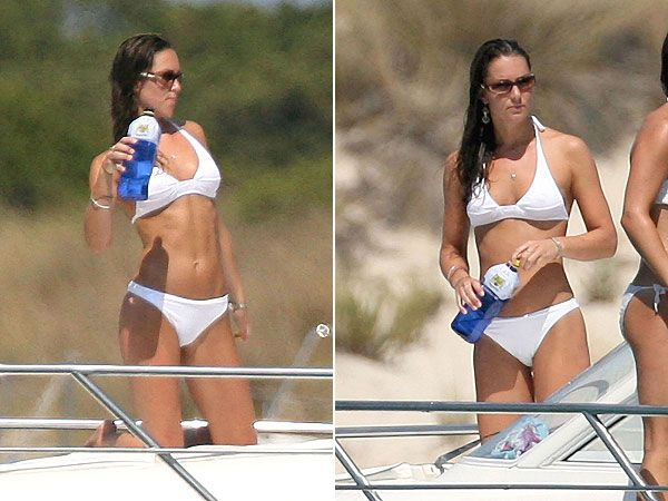 Kate Middleton BIkinis in Spain  1 of 15 Kate Middleton bikinis with Prince William and friends in Ibiza, Spain in a previously unreleased set of photos from 2006.