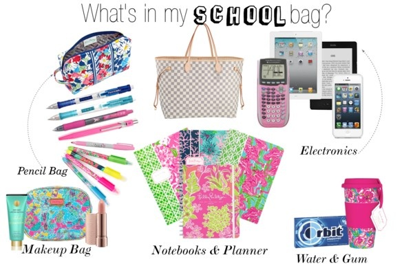 """""""Whats in my school bag?"""" by evelynisabelle ❤ liked on Polyvore"""