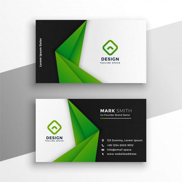 Green Abstract Modern Business Card Design Free Vector Https Ift Tt 2k5hkcz Free Business Card Design Modern Business Cards Vector Business Card