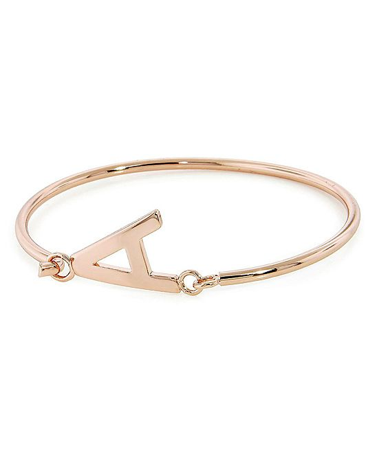 Rose Gold Initial Bangle