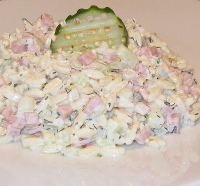 Przepisy Magdy: Sałatka z makaronem w kształcie ryżu