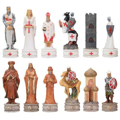 Turn your chess match into a medieval battle with these crusades themed chess…