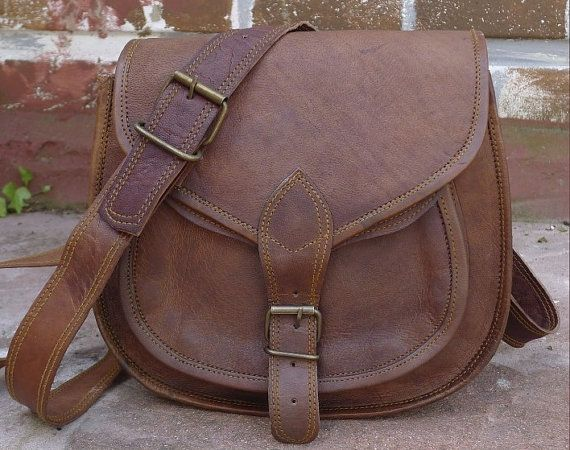 Leather crossbody purse / brown leather purse / by handsmadeitforu, $29.00