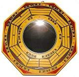 Hang a Bagua Mirror facing the entrance of your home to deflect unwanted and negative energies! A concave mirror deflects Sha Chi or negative energy away and the convex mirror expands positive Chi energy coming into the home.
