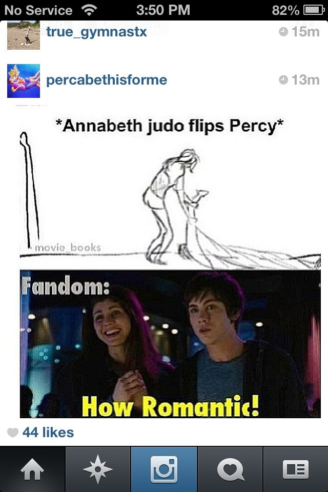 I found it extremeley romantic, considering the two demigods, and all they've been through together and apart.                                                                                                                                                     More