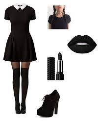 Image result for black sweater dress wednesday addams