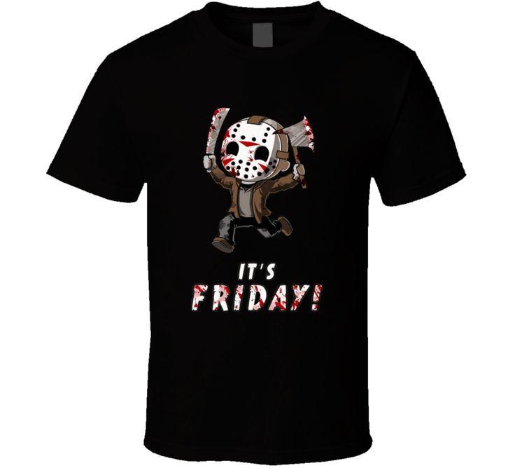 Jason Its Friday Halloween The Thirteen 13 T Shirt