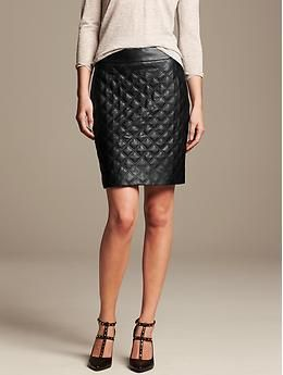 The perfect Faux-Leather Pencil Skirt for fall! @bananarepublic
