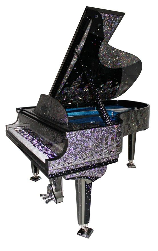 Unique, rare, custom piano.  Customized Steinway & Sons grand piano.  That's just awesome!