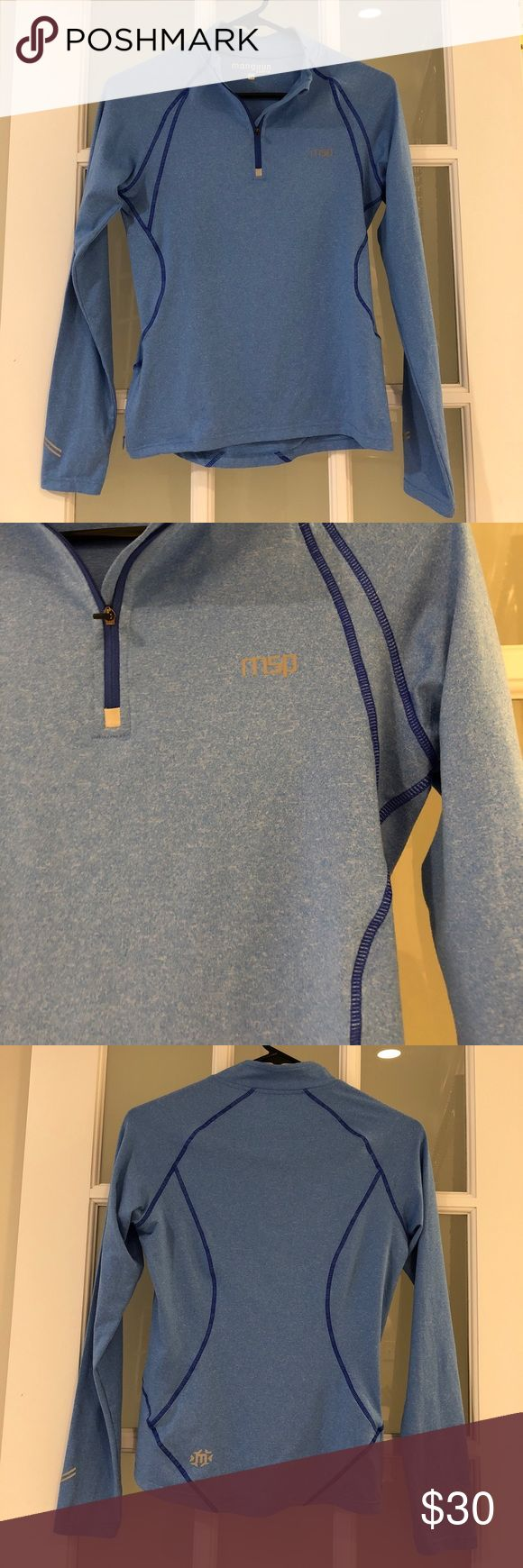 NWOT sports top Bought in Germany, never worn. Size is European 36, fits like US Xsmall. Great quality. Zipper pocket on the right side. Very sleek. Manguun Sports Tops