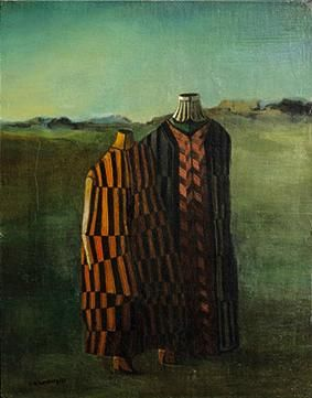 Figures on Landscape - Roberto Aizenberg Completion Date: 1953 Style: Surrealism Genre: figurative painting